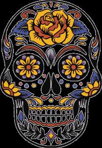 Skull for dia de los muertos